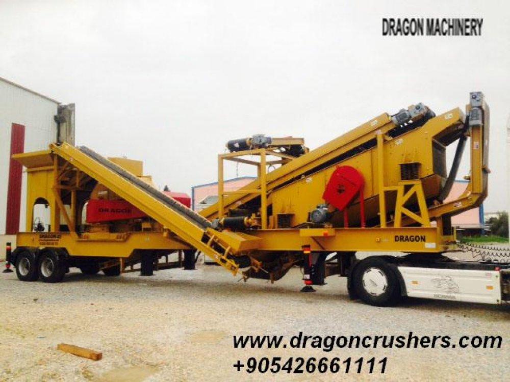 Satın al Mobile раздробяване и пресяване растение дракон трошачка за продажба
