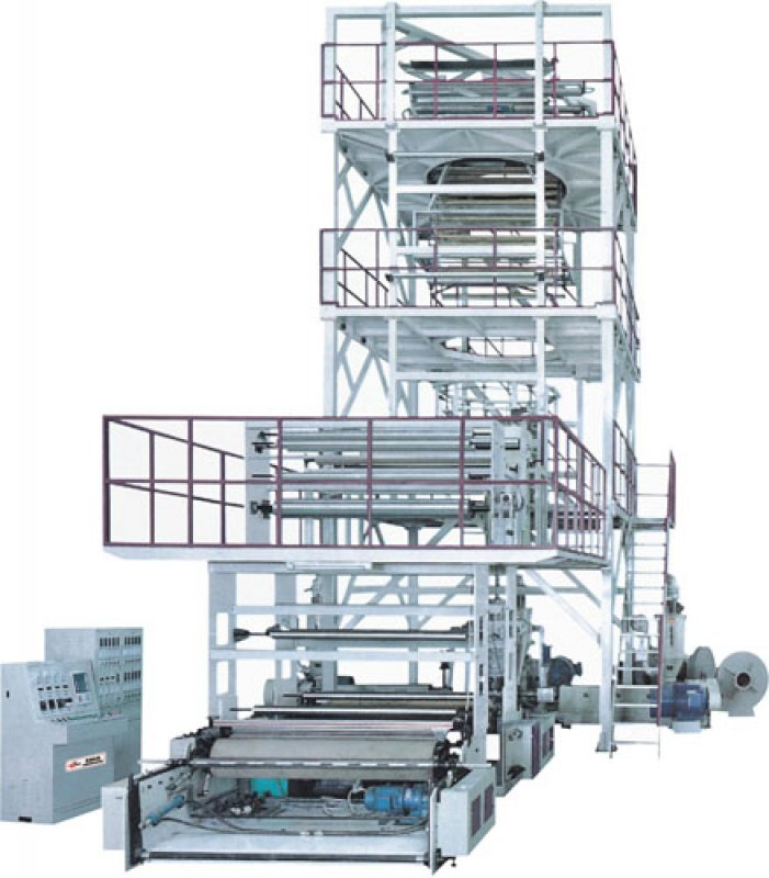Satın al Multi-layer coextrusion (rotary upward traction) film blowing machine