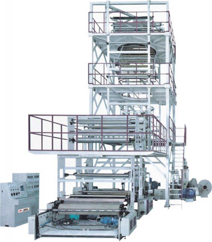 Satın al Multi-layer coextrusion (rotary upward traction) film blowing machine