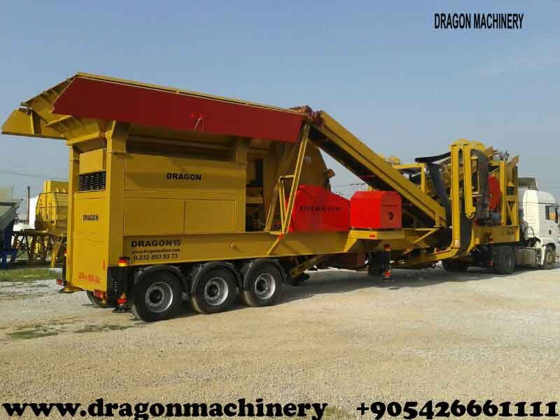 Satın al Mobile crushing plant Manufacturers Dragon crusher Type 15
