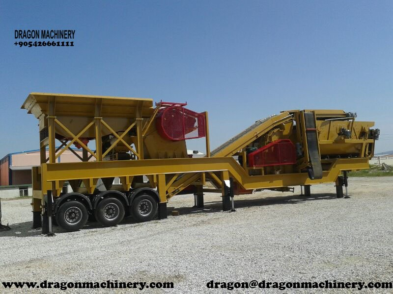 Mobile crushing plant dragon crushers for sale
