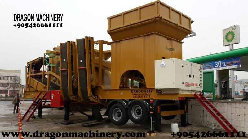 Satın al Portable crushing and screening plant dragon crusher for sale