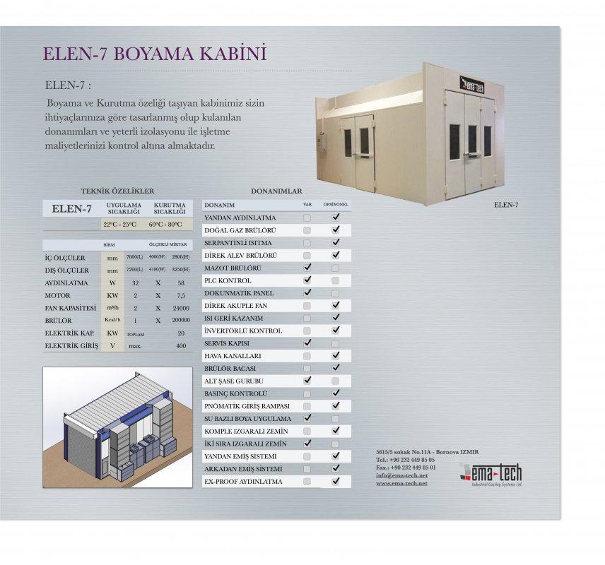 Satın al ELEN-7 BOYAMA VE KURUTMA KABİNİ