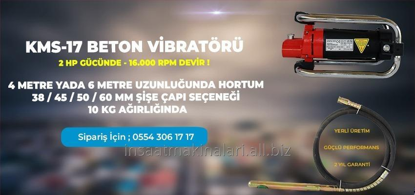 Satın al Elektrikli Beton Vibratörü 3 Hp 4 Mt Hortum Şişe 45 Mm
