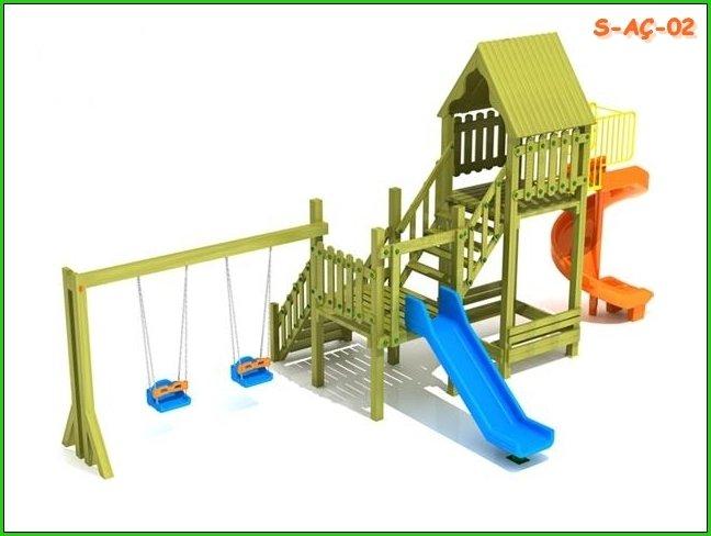 Satın al Ahşap Çocuk Oyun Parkları