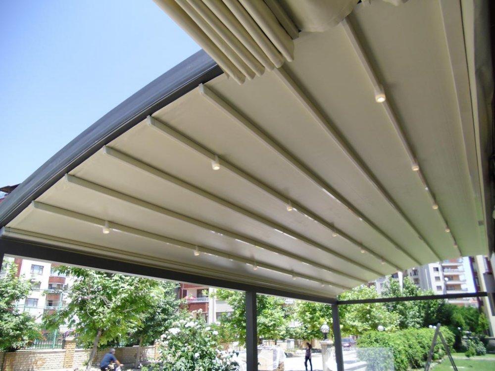 Satın al RAYLI PERGOLA SİSTEMİ - KATLANIR TENTE (Retractable Roof Awning)