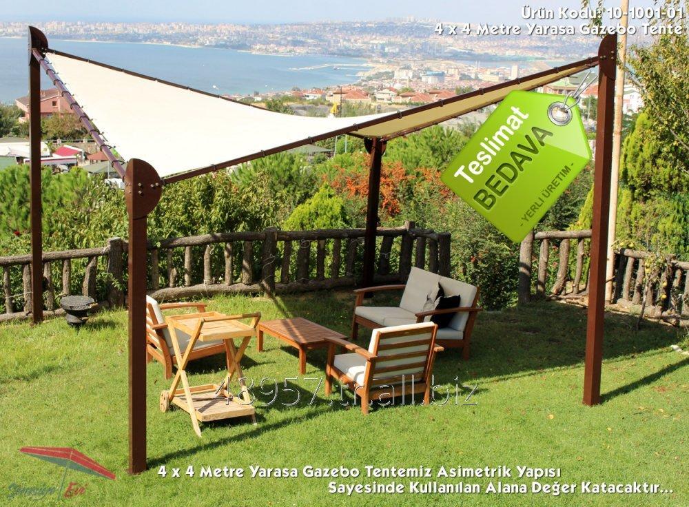 Satın al Şemsiye Evi Yarasa Tente 4 x 4 Metre GAZEBO Yerli Üretim 10-1001-01