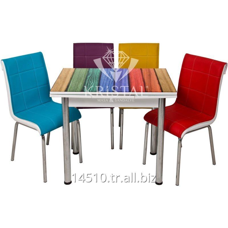 Satın al Dört Renk Ahşap Yandan Açılır Küçük Boyut Masa ve Sandalye Takımı