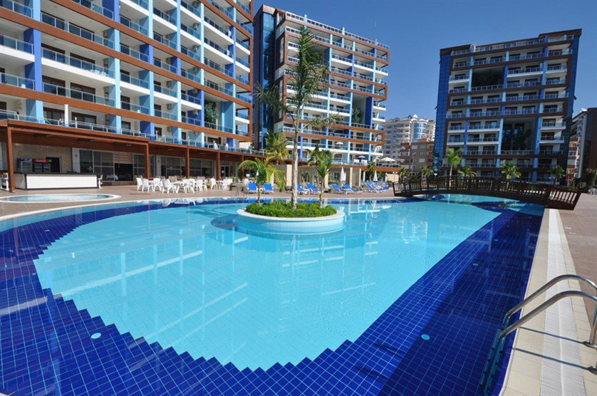 Satın al For sale new apartments like hotel from the best construction companies in Turkey Alanya