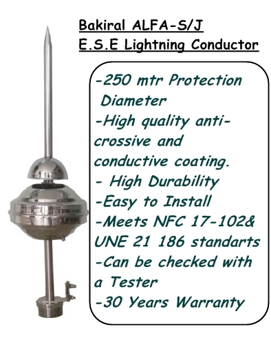 Satın al Bakiral ALFA -S/J E.S.E. Lightning Conductor