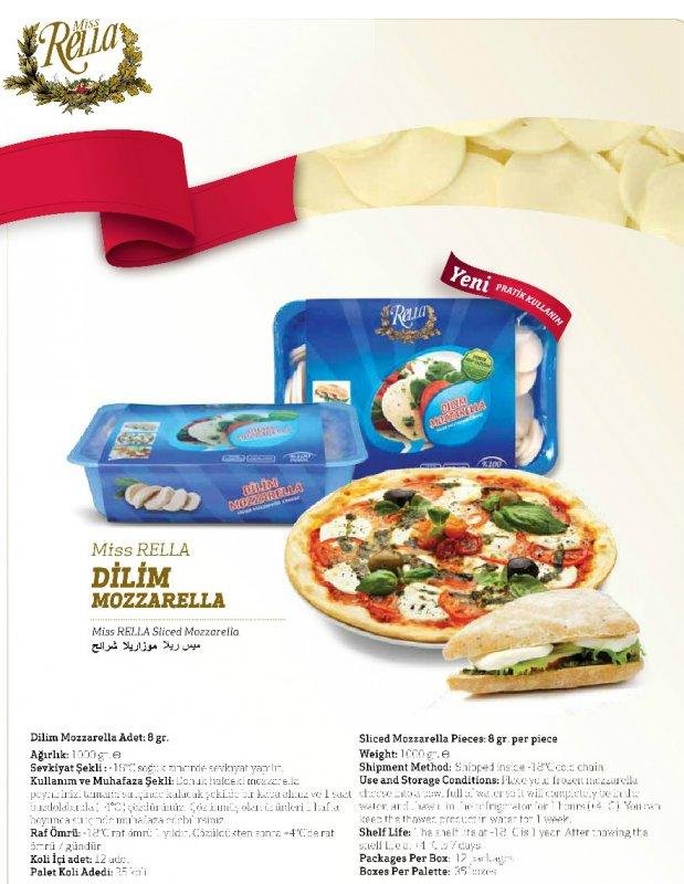 Satın al Sliced Mozzarella