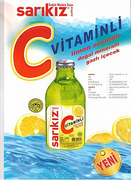 Lemon Flavored Mineral Carbonated Drink with C Vitamin