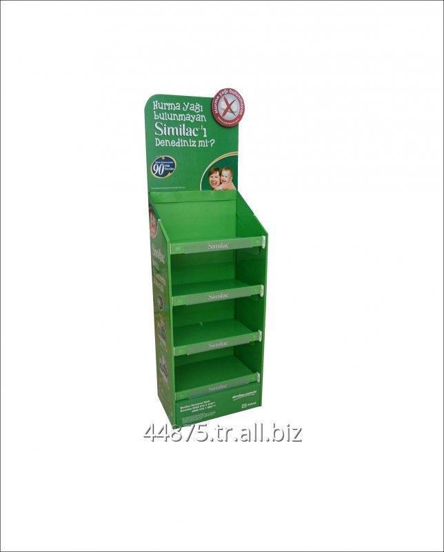 Satın al Kolay kurulum raflı karton stand