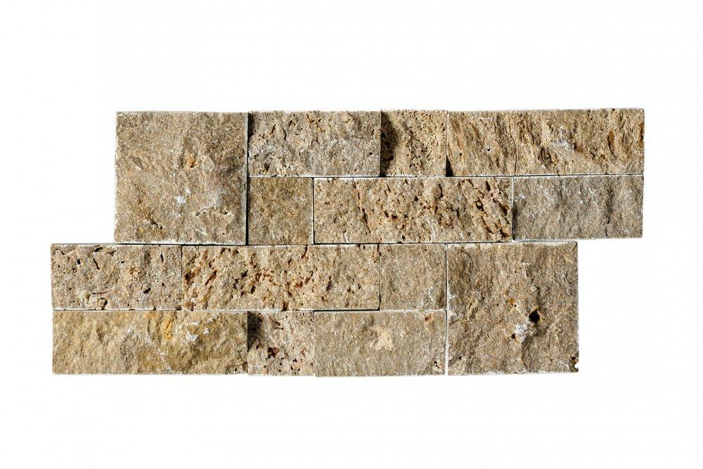 Satın al Noce Traverten Panel Duvar Kaplama Patlatma Taş