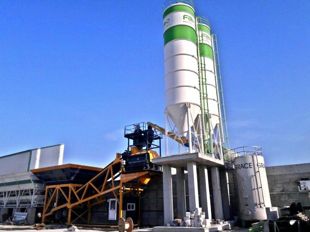 Satın al Concrete Plant * Turbomix 100 * Concrete Plant with Twinshaft Mixer