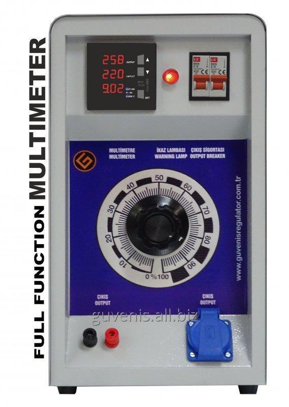 Satın al Test Varyak Monofaze 5KVA (Kutulu) Multimetre Kontrollü