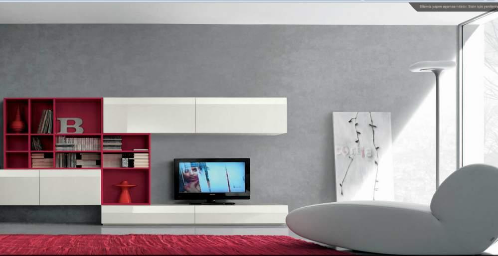 Duvar Üinteleri , Tv Aksesuarlı Mobilya Dekorasyon
