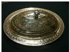 Satın al Bakır Gümüşlü Oval Sahan
