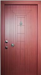 Açık Maun Dekoratif Çelik Kapı