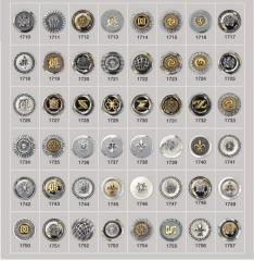 Metalize düğmeler