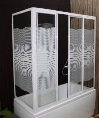 Cabs shower made of glass
