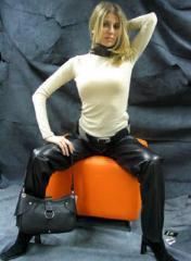 Bayan deri pantolon