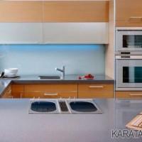 Mutfak tezgah arasi cam kaplama