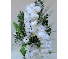 Beyaz orkide yapay çiçek tasarımı