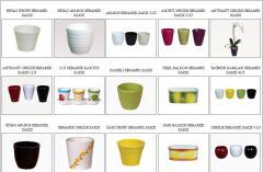 Les pots pour les couleurs