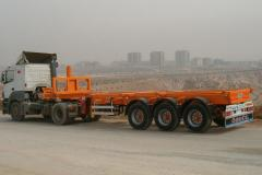Container carrier semitrailers