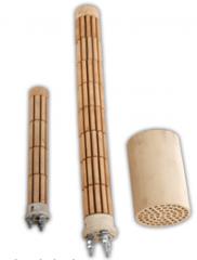 Ceramic posistor heaters