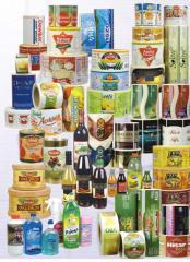 Satın al gıda ve içecek etiketleri