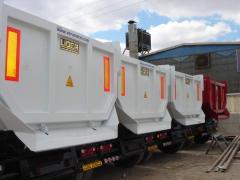 Semitrailers, drop-side