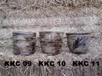 Les pots pour les couleurs de la céramique