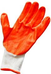 Turuncu işçi eldiveni