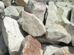 Limestone fissured