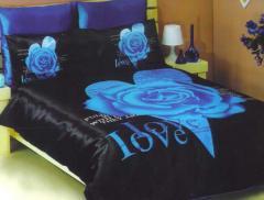 Siyah - mavi nevresim takımı Love