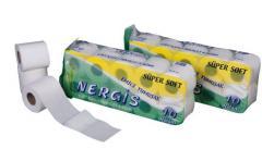 Nergis 10′lu süper soft tuvalet kağıdı