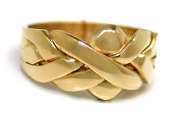 14k gold  4 band puzzle ring