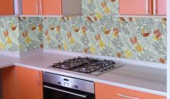 Glass tile for the kitchen
