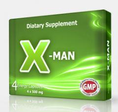 X-Man 4x500 mg Bitkisel Kapsül