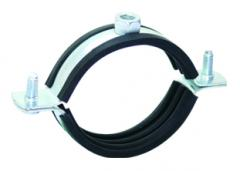 Pipe clamps with nut