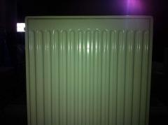 Plant for the production of panel radiators