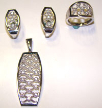 Silver Jewellery Sets MS 01-2