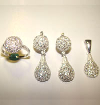 Silver Jewellery Sets MS 12