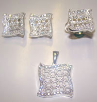 Silver Jewellery Sets MS 28