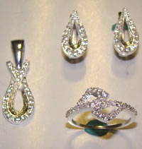 Silver Jewellery Sets MS 26