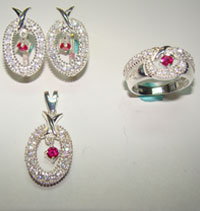 Silver Jewellery Sets MS 24