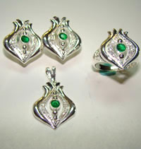 Silver Jewellery Sets MS 41