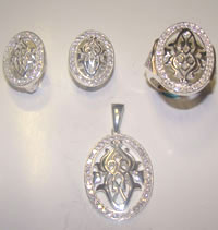 Silver Jewellery Sets MS 38